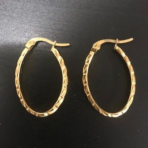 Silver gold-colour earrings